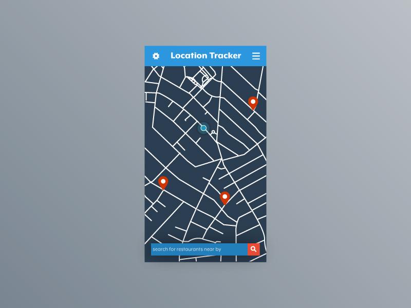Daily UI 020 gps tracker dailyui dailyui20 locationtracker