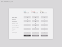 Daily UI 030 Pricing Table