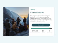 Daily UI 32  Crowdfunding Campaign
