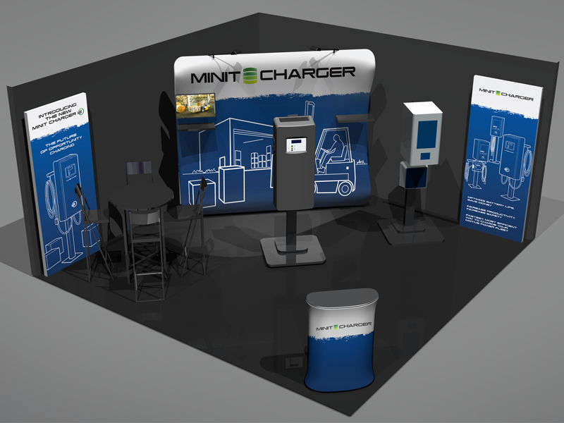 Trade Show Booth Graphics : Minit charger trade show booth graphics by chris tingom dribbble