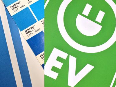 EV Signage Closeup