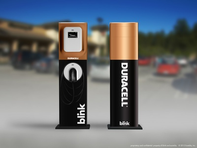 Duracell duracell ev charger electric vehicle electric charger wrap wrap design blink