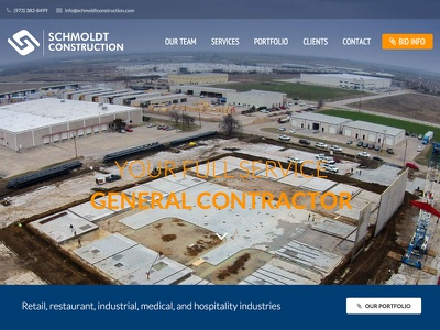 Schmoldt Construction general contractor design full screen photo custom wordpress wordpress construction