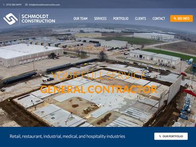 Schmoldt Construction general contractor design full screen photo custom wordpress wordpress construction