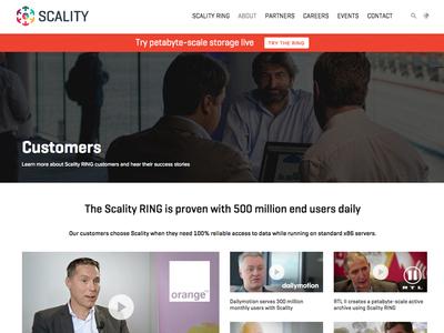 Customer Showcase customers wordpress scality