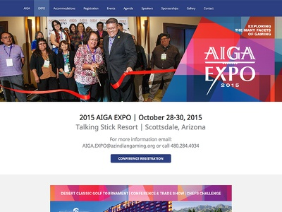 AIGA EXPO arizona woocommerce conference wordpress wordpress expo conference website