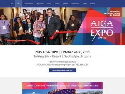 AIGA EXPO arizona woocommerce conference wordpress wordpress expo conference website