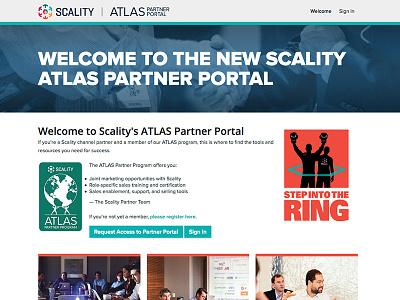 Atlas Portal web site design liferay theme partner portal scality ring scality atlas portal liferay