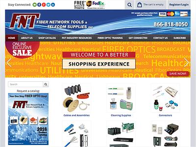 Ecommerce Site Design & Development fiber optics store shopping design shopping cart web design fnttools ecommerce productcart