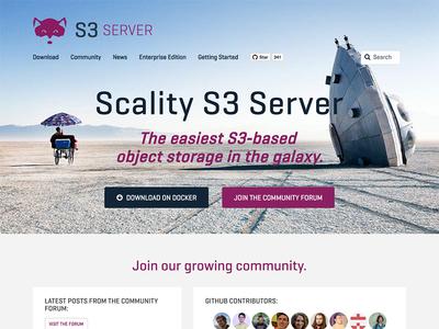 Scality S3 Server readme community space object storage s3 design