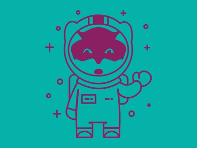 Zenko Orbit Space Fox s3 server illustration space suit fox astronaut space fox scality zenko