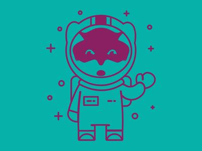 Zenko Orbit Space Fox s3 server illustration space suit fox astronaut space fox scality zenko