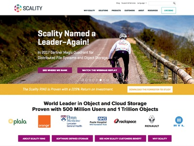 Scality corporate call to action slider wordpress design wordpress blog designs corporate branding san francisco startup customer storage corporate design scality