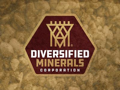 Mining Company Logo gold brown minerals miners mining brand identity design logo branding