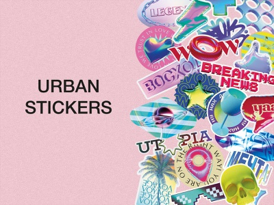 Creative Stickers sticker collection template modern hipster clipart spring summer creative stickers collection sticker set sticker pack cyrillic instagram inspiration party event party print stickers download psd download