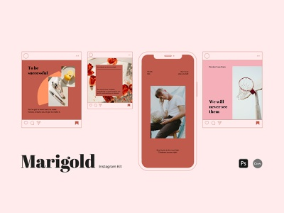 Instagram Content Kit template minimalist kit summer advertising blogger organic eco trendy feed post story stories social media smm instagram trends instagram content canva template canva instagram