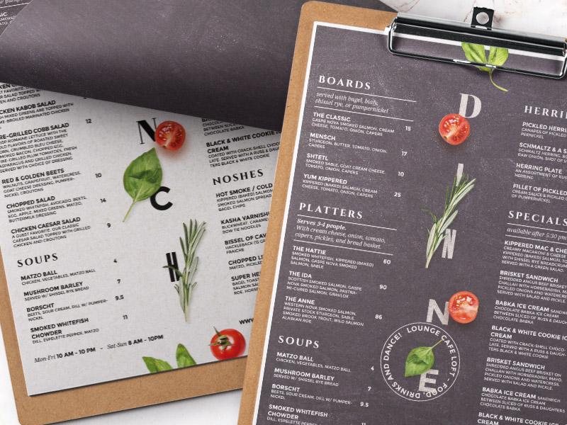 restaurant menu design by bigweek dribbble