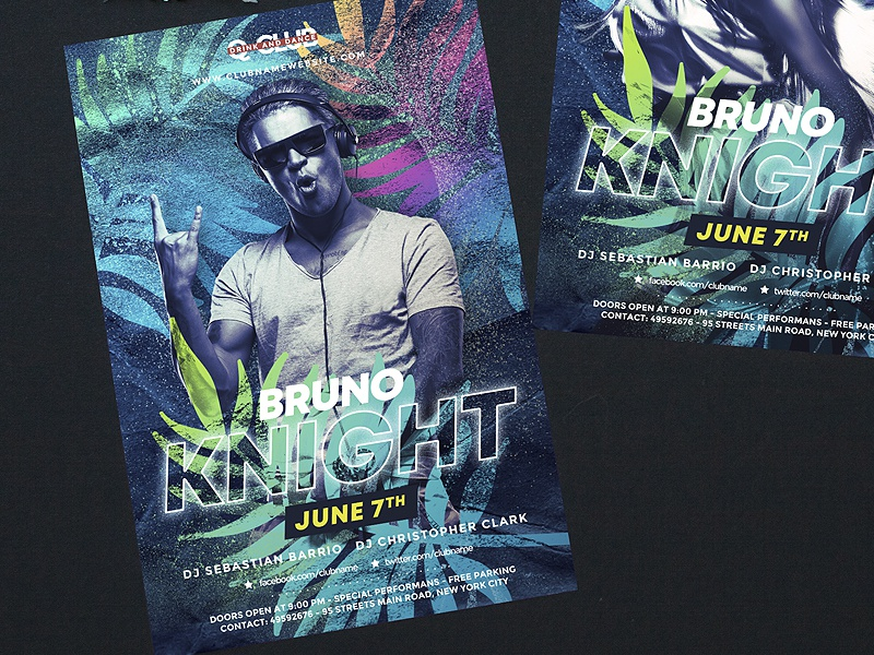 Tropical DJ party by BigWeek on Dribbble