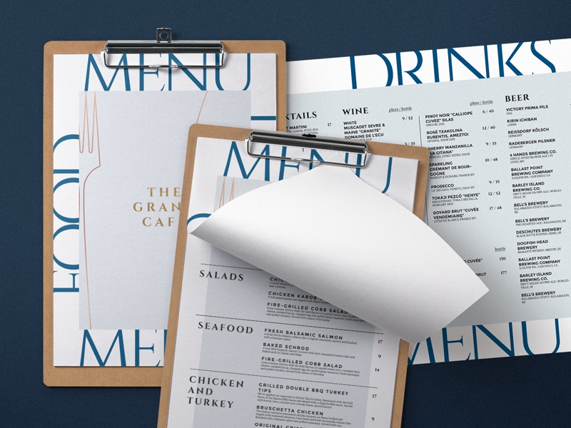 restaurant menu design by bigweek dribbble