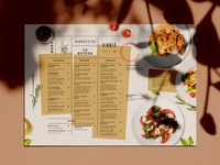 Menu Design Restaurant