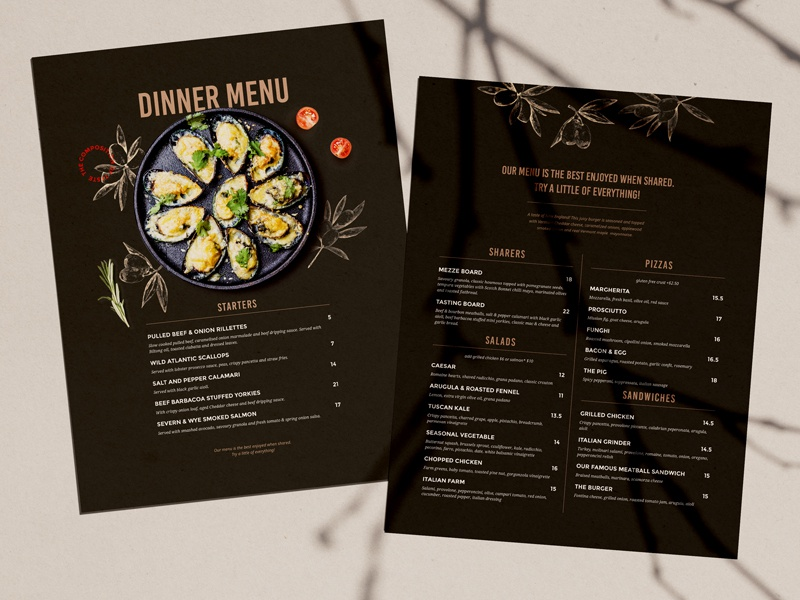 Restaurant Menu Design By Bigweek On Dribbble
