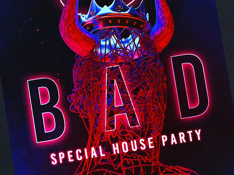 House Night Club Party party invitation party flyer club flyer fashion music dance music dj party event modern red night dance house ladies night club night party club fur party animal