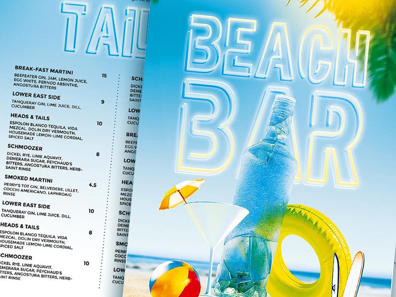 Beach Bar Menu By Week On Dribbble