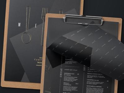 Black Restaurant Menu