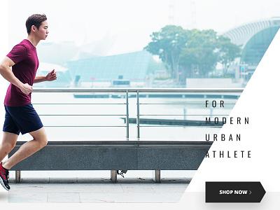 Singapore Sport Wear Store simple minimalistic creative e-commerce sport