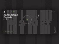 Hero Screen for E-Commerce Developmnet Agency motion typography creative minimal animation 3d intro