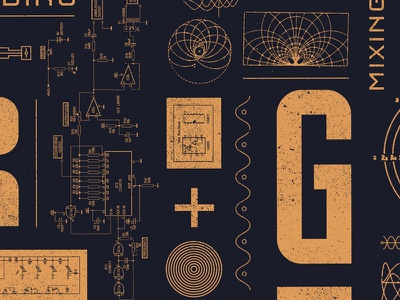 Decorative Technical Pattern grunge raster brand diagram manual technical pattern