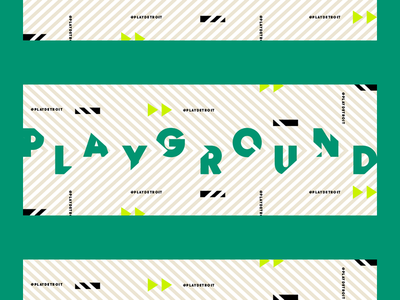 Bouncy Type branding green banners social detroit typography playground