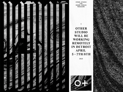DETROIT TYPE vector design blackletter gothic black and white glitch static type typography