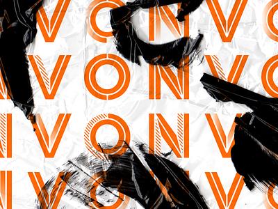 NVO Custom Type paint chisel alphabet logo custom type vector type typography
