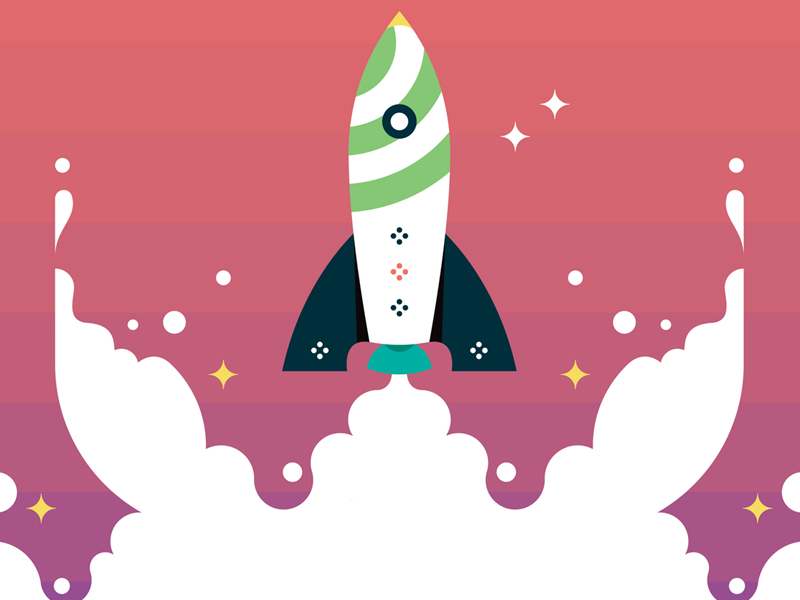 Pivotal Rocket illustration vector blast off space rocket ship video animation pivotal