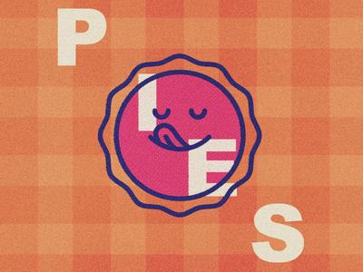 Happy Sun Pie plaid vector logo icon pie sun illustration