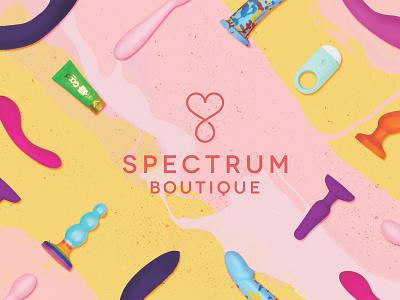 Spectrum graphic design colorful fun sex toys playful painterly photography branding logo design