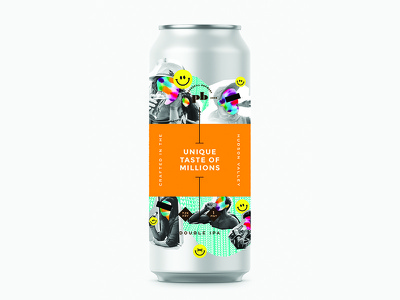 Peekskill Brewery Can Design collage beer can colorful fun product graphic design beer packaging branding