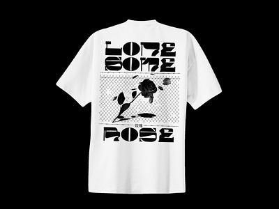 Lonesome Rose Tshirt restaurant western merchandise merch tshirt custom type rose vector typography