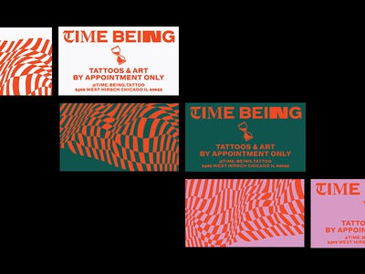 Time Being Business Cards print pattern logo vector branding business card typogaphy