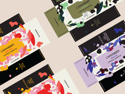 Next Time Cannabis Branding print shapes collage box labels greek typography colorful pattern texture illustration vector logo identity pre-roll weed packaging branding cannabis