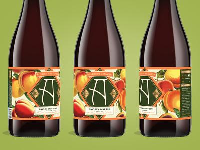 Allegory Dayton Grand Cru beer branding beer can oregon illustration design peach fruit packaging label craft beer beer