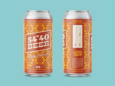 5440 Crowler brand crowler typography type lettering vintage pattern retro design packaging label beer can brewery beer