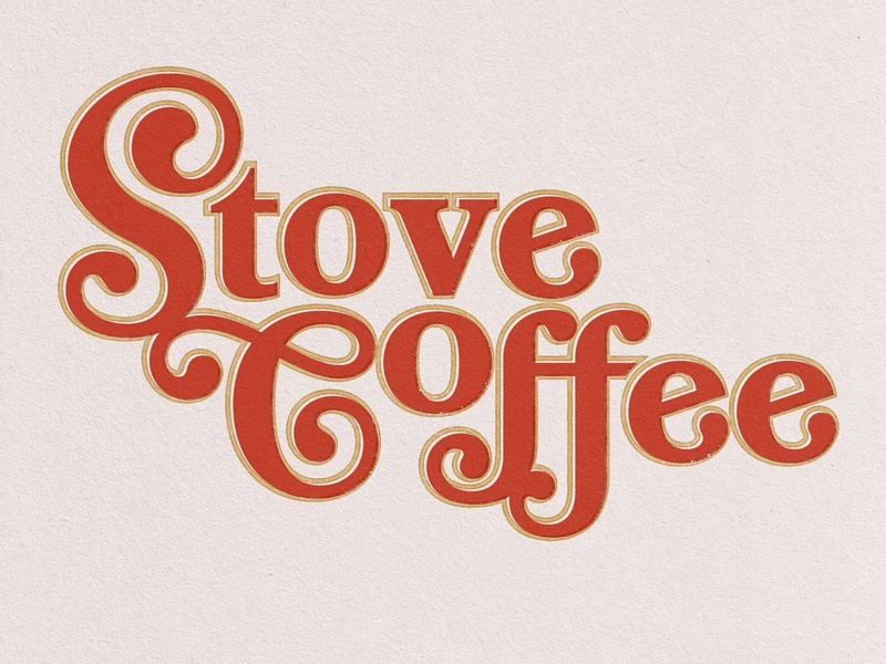Stove Coffee ornate brand stove design coffee vintage design typography type retro vintage logo lettering