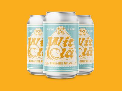 Wit Cla brewery branding branding alcohol typography lettering type illustration design packaging surf wave beach ocean brewery beer label beer