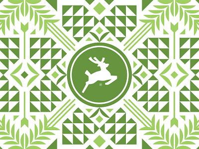 Hops n' Malts geometric illustration icon symbol symmetry branding brewery clean simple shape illustration design pattern minimal packaging beer can craft beer beer malt hops geometric