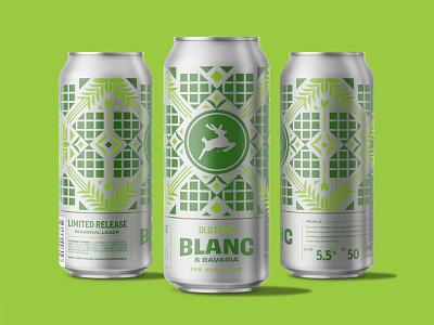 New Wave Lager farm package design packaging branding brand illustration beer label design brewery malt hops shapes minimal geometric patterns beer can beer label beer