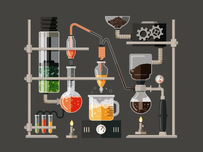 Do You Even Science? rejected percolator brewing test tube chemistry beaker hops coffee beer science design illustration