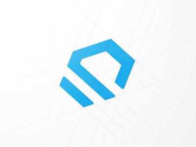 Sift Logo hexagon geometry icon design portfolio guides logotype branding wireframe mark identity logo