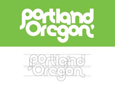 Portland Type font lifework northwest design grid mark type oregon logo lettering typogrpahy portland